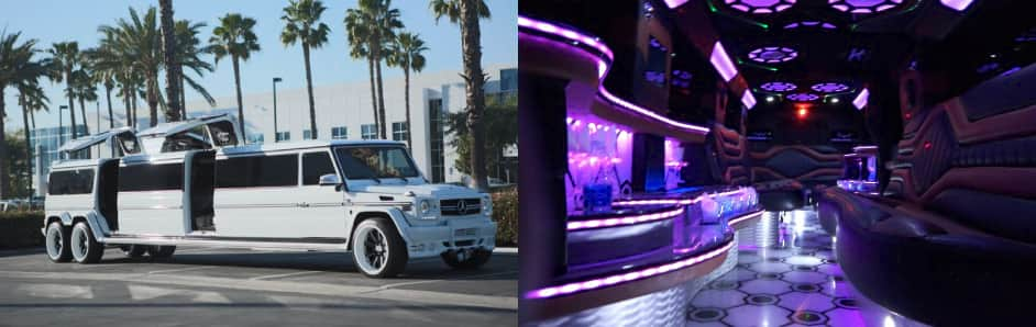 Limos4 Chauffeured Limousine Service in Mercedes G63 AMG Limo