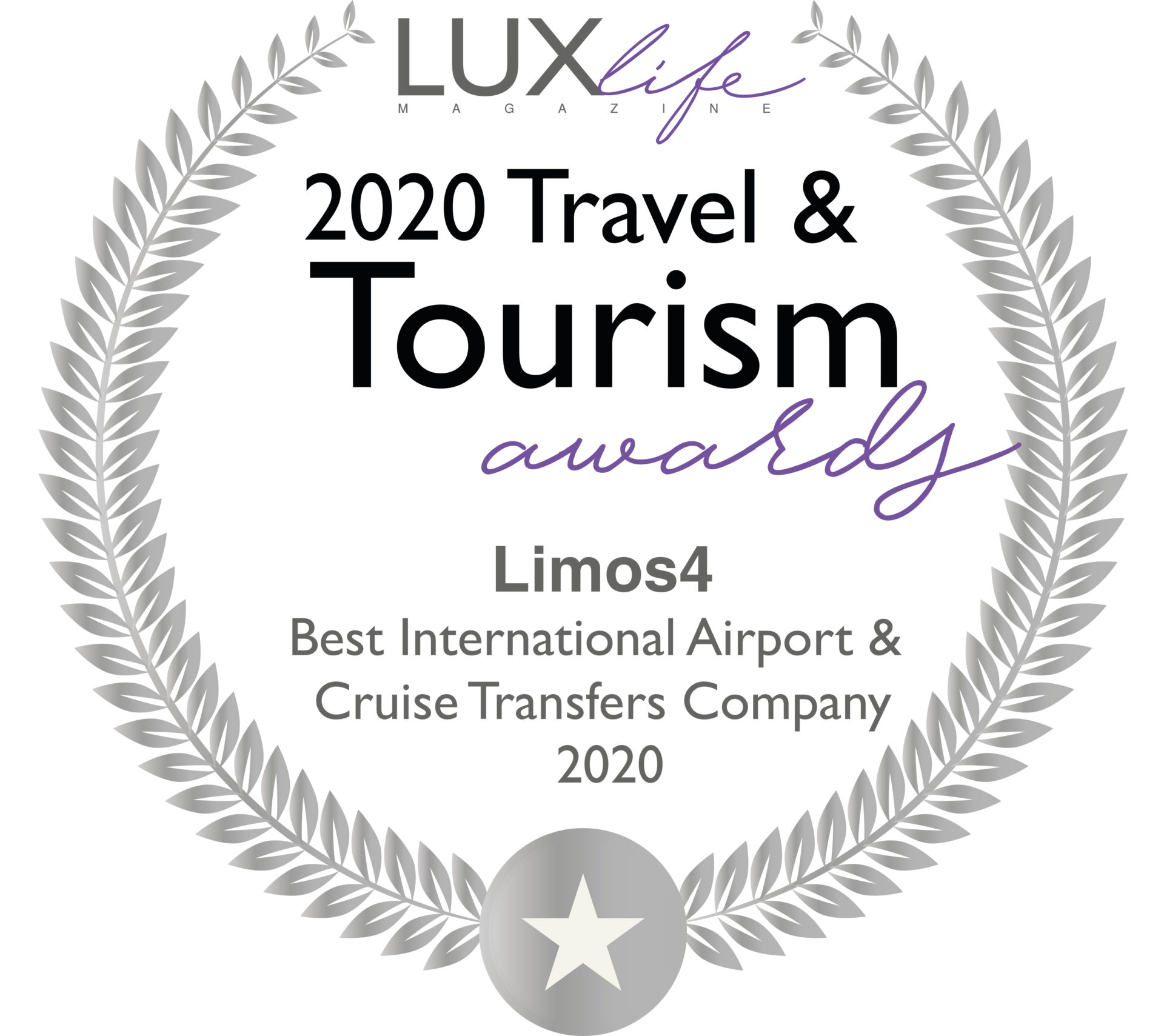 Limos4 Awarded Best International Airport & Cruise Transfers Company 2020